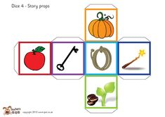 Teacher's Pet Displays » Fairy tale story telling dice » FREE downloadable EYFS, KS1, KS2 classroom display and teaching aid resources » A Sparklebox alternative