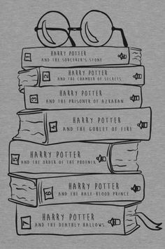 Harry Potter hand drawn books