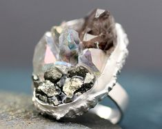 Sterling Silver + Mixed Crystal Ring