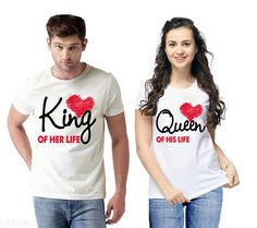 Couple Tshirts Trendy Couple T-Shirts Fabric: Semi Cotton  Sleeves: Half Sleeves Are Included Size: S - 36 in M - 38 in L - 40 in XL - 42 in XXL - 44 in Length: Up To 26 in Type: Stitched Description: It Has 2 Pieces Of T-Shirts Work: Printed Country of Origin: India Sizes Available: S, M, L, XL, XXL   Catalog Rating: ★4.1 (3725)  Catalog Name: Briar Standard Semi Cotton Couple T-Shirts Vol 1 CatalogID_101982 C79-SC1940 Code: 104-875845-5001