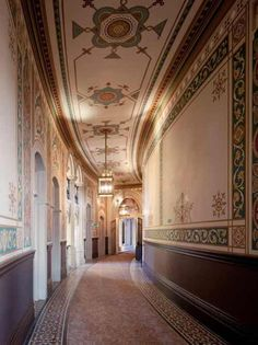 A corridor in the St. Pancras Renaissance Hotel located in London. It makes me think of a hall in the book Beauty.
