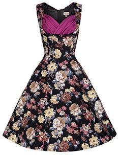 Lindy Bop 'Ophelia' Vintage 50's Inspired Floral Print Swing Dress (2XL, Black) Lindy Bop http://www.amazon.com/dp/B00SV16TS2/ref=cm_sw_r_pi_dp_eW5Gvb0F24Q05
