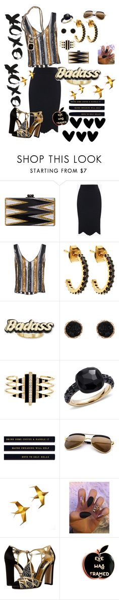 """Badass"" by ericjen8685 ❤ liked on Polyvore featuring Edie Parker, Alexander McQueen, Sally Lapointe, Lola Rose, Steve Madden, Humble Chic, Noir Jewelry, Pomellato, Dolce&Gabbana and David Yurman"
