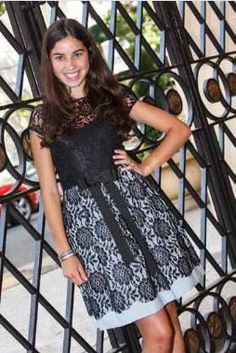 Lace Bat Mitzvah dress.