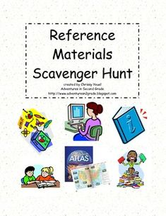 This is an active game where students must hunt for reference materials (atlas, dictionary, Internet, Encyclopedia-if you have one, index, table of contents, etc.) to find answers to their questions.  A great review, only $1.00!