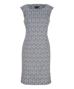 Another great find on #zulily! Eclipse Blue Floral Sheath Dress by Tribal #zulilyfinds