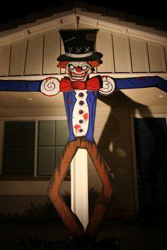 Weatrowski family party/haunt props 2008.  CarnEvil theme...building the entryway.
