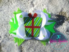 Hair Bow Girls Baby Holiday Xmas Hairbow by LottiesLoveliesBows, $5.99