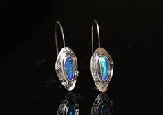 Bold Australian boulder opal earrings by www.myfascinationstreet.etsy.com