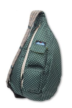 This bag rocks! Whether for day hikes, music festivals, or running errands, this bag is everything I need.  KAVU Rope Sling Bag, Pine Dots