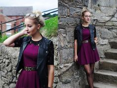 Urban Outfitters Dress, Asos Leather Waistcoat, Moschino Belt