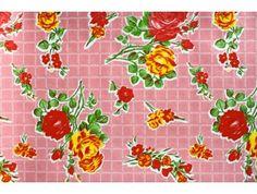 plakplastic roze met rozen