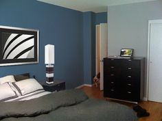 I've always wanted to paint my room the darker blue color shown here.