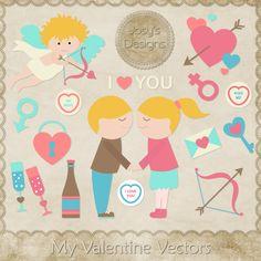 My Valentine Love Vector Template by Josy , cu, commercial, scrap, scrapbook, digital, graphics, clipart,