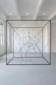 MICHEL FRANÇOIS Michel Francois - Piéce détachée, 2011 Steel and magnets 105 × 105 × 105 in 266.7 × 266.7 × 266.7 cm Bortolami