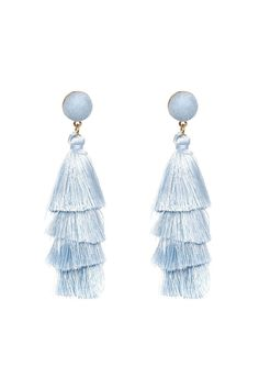 MULTI-LAYER FRINGE STATEMENT EARRINGS