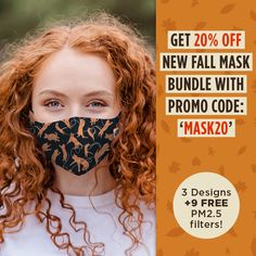 Our reusable, washable, adjustable masks feature double-layered Polyester fabric with a filter pocket for filter inserts (included). Designed for all-day comfort and wear, each reusable face mask features an adjustable metal nose bar and stretchy ear loops with cord stop toggles, ensuring a tight, comfortable fit on any face shape and size! Each of our Reusable Cat Face Masks also features a filter pocket for replaceable filter inserts, which are included.