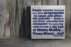 Doodle Craft...: Wibbly-Wobbly...Timey-Wimey Doctor Who Sign!