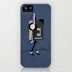 Moonwalkman iPhone Case by Tomas Jordan - $35.00