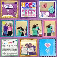 Relay for Life thank you party by Brenda Hollingsworth (Made with the Doodle Pocket Page Templates from PixelScrapper.com)