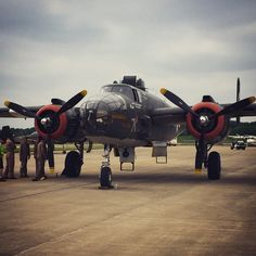 B-25 at Indianapolis Metropolitan Airport