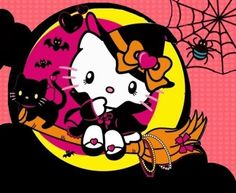 Most popular tags for this image include: Halloween, hello kitty and sanrio