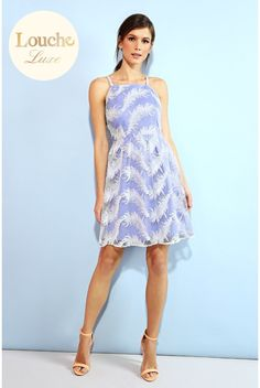 Louche Luxe Flight Feather Print Dress