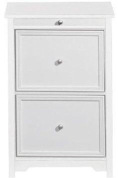 "Amazon.com: Oxford File Cabinet With Pull out Shelf, 30.5""Hx20.5""W, WHITE: Home & Kitchen"