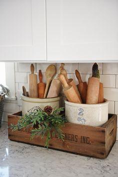 Finding DIY Home Decor Inspiration: 10 More Farmhouse Kitchen Storage & Organization I...