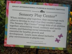 Epcot's Garden Festival includes Sensory Playground | Accessible Playgrounds