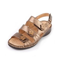 d7c268c77664 Savic Ladies Ultra Wide Sandal 6E with heel height 1¼