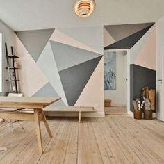 Pinturas geométricas são um truque baratex para renovar o ambiente. A dica é…