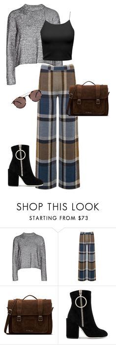 Outono em NY by yaykpx on Polyvore featuring moda, T By Alexander Wang, Warehouse, Off-White, Dr. Martens and Oliver Peoples