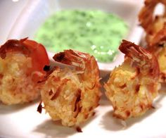 coconut shrimp with cilantro-lime dipping sauce