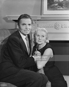 James Mason and Ann Todd in 'Not The Glory' on PLAYHOUSE 90. Image dated April 1,1958.