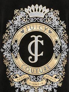 Juicy Couture - díszítette pamutjersey pulcsi - FEKETE