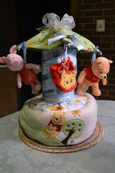 Items similar to Custom Carousel Diaper Cake on Etsy Distintivos Baby Shower, Baby Shower Diapers, Baby Shower Cakes, Baby Shower Parties, Baby Shower Gifts, Baby Gifts, Baby Showers, Lolly Cake, Diaper Cake Centerpieces