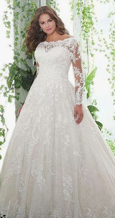Los vestidos de novias ampón más hermosos para tu boda