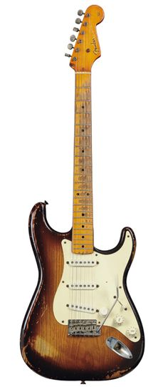 Richard Gere (yes, really) has the most amazing collection of vintage guitars.  Who knew?  This is a 1954 Strat.  Wow.