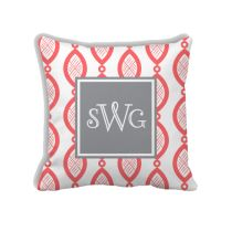 Monogrammed Pillows! Pick your pattern, color and monogram style.