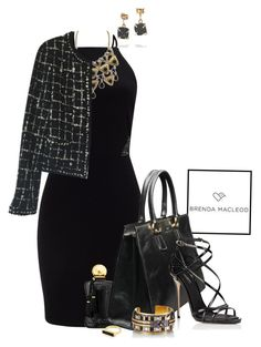 """""""LBD"""" by captainsilly ❤ liked on Polyvore featuring Miss Selfridge, Parfums de Marly, Dolce&Gabbana, Emi Jewellery, Chanel, HIRSCHELL, Edge of Ember and Melissa Joy Manning"""