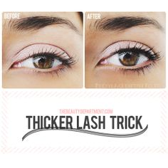 Our secret weapon for thicker-looking lashes without losing lid space... and it doesn't involve a wand! Click on the pic for the tutorial!
