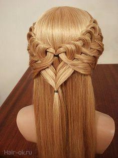 kalp saç örgü modeli yapılışı resimli şelale saç örü modeline benzese de yapılışı şelale saç örgüsünden kolay görünüyor saçı uzun olan b...