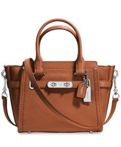 COACH Swagger 21 Carryall in Pebble Leather | macys.com