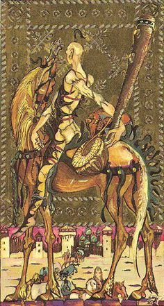 33 ♣ Knight of Wands ♣ The Medieval Scapini #Tarot