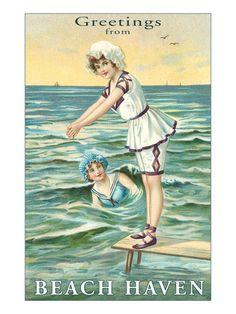 Greetings from Beach Haven, New Jersey Premium Poster