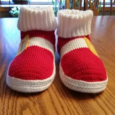 This item is unavailable Mario Crochet, Sonic Birthday Parties, Classic Sonic, Anime Crafts, Crochet For Boys, Yarn Ball, Crochet Shoes, Mens Slippers, Yarn Crafts