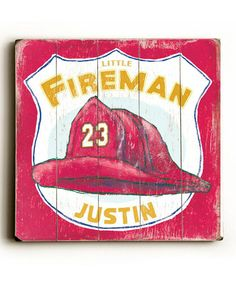 Take a look at this ArteHouse Fireman's Hat Personalized Wall Art by Make it Yours: Custom Décor on #zulily today!
