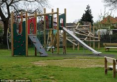 Prince George and his mother are also regular visitors to the children's play area at a nearby village