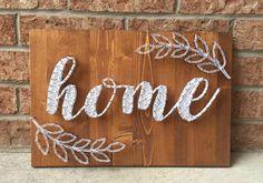 HOME string art
